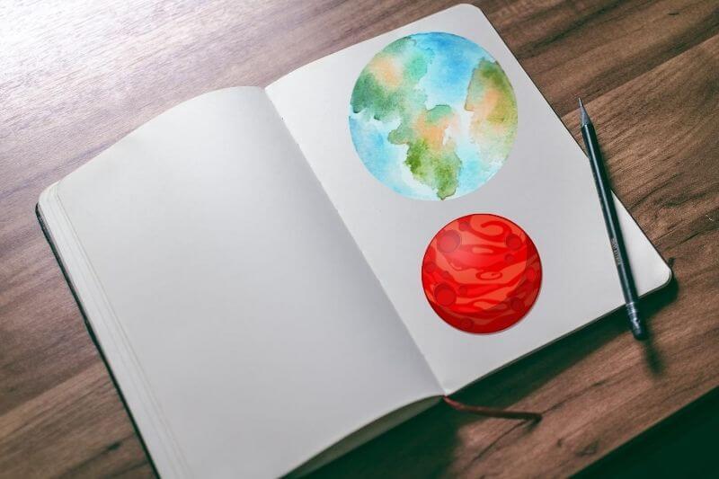 Libros con dibujos para colorear Planetas