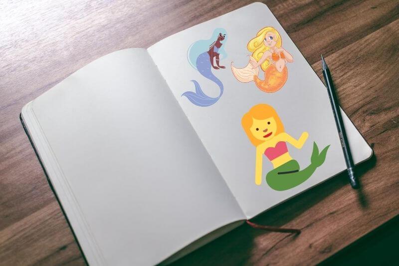 Libros con dibujos para colorear Sirenas