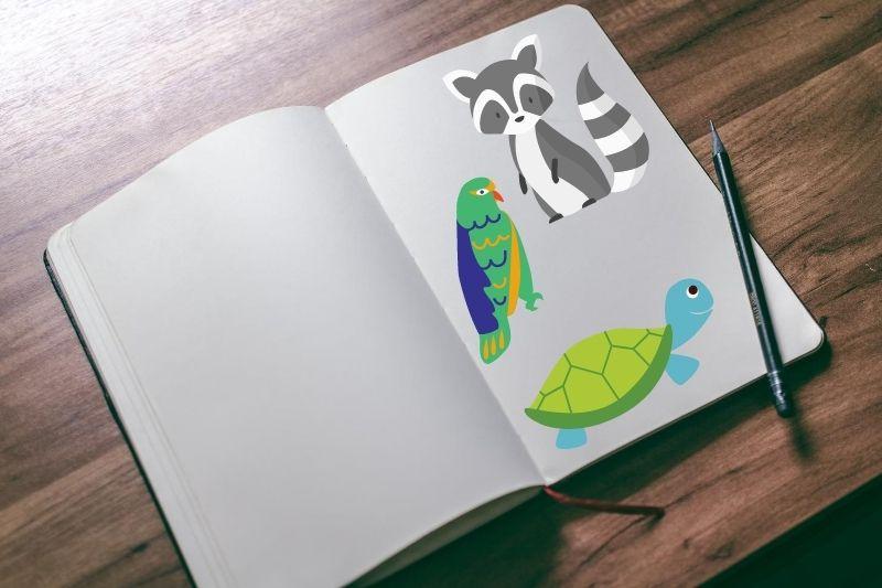 Libros con dibujos para colorear de animales