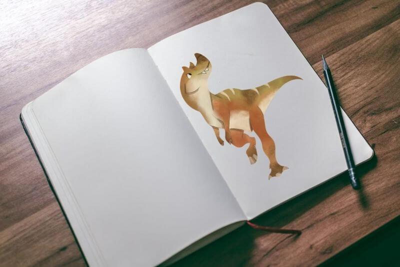 Libros con dibujos para colorear de dinosaurios