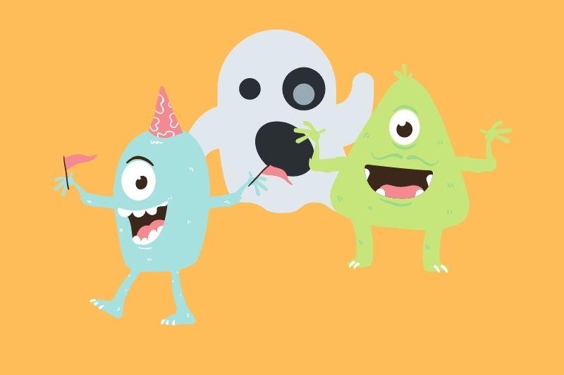 Libros con dibujos para colorear de monstruos y Halloween